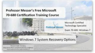 Windows 7 System Recovery Options - Microsoft 70-680: 8.2