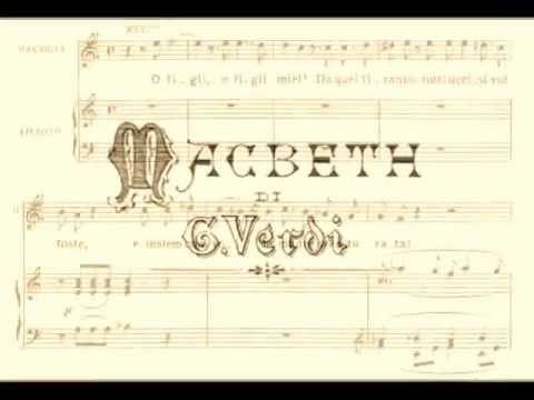 Enrico Caruso - Ah, La Paterna Mano (from Verdi's Macbeth) 1916