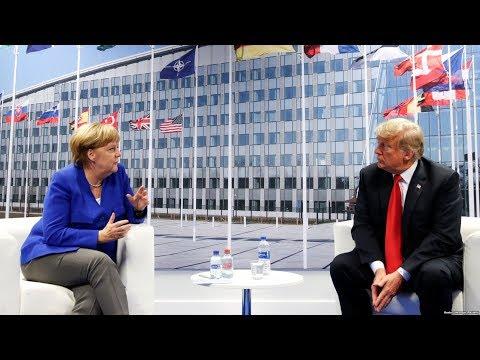 Дональд Трамп встретился с Ангелой Меркель