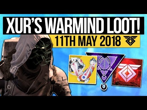 Destiny 2   XUR LOCATION! NEW DLC EXOTICS! - Exotic Weapon, Armor Inventory & New Items (11th May)