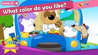 (B)23_ dersi Hangi rengi seversin? İçin - karikatür Hikayesi - Kolay konuşma çocuk
