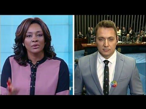 Primeiro Impacto (12/05/16) com cobertura ao vivo do 'impeachment'
