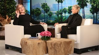 Adele Gets Candid with Ellen(The singer discussed everything, from her talked-about Grammy performance to her family's first trip to Disneyland., 2016-02-18T14:00:01.000Z)