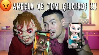 ANGELA ve TOM - ÇAKİ ÇAKARI GÖRÜNCE ÇILDIRDI !!! (My Talking Tom)