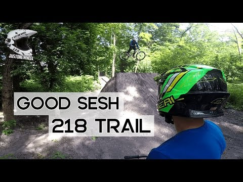 Session au 218 Trail en DH // Fails & Tricks // Gros crash !