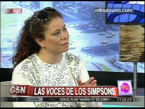 C5N - VIVA LA TARDE: LAS VOCES DE LOS SIMPSONS