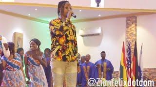 Kelvynboy Performs Powerful Gospel Songs At Church