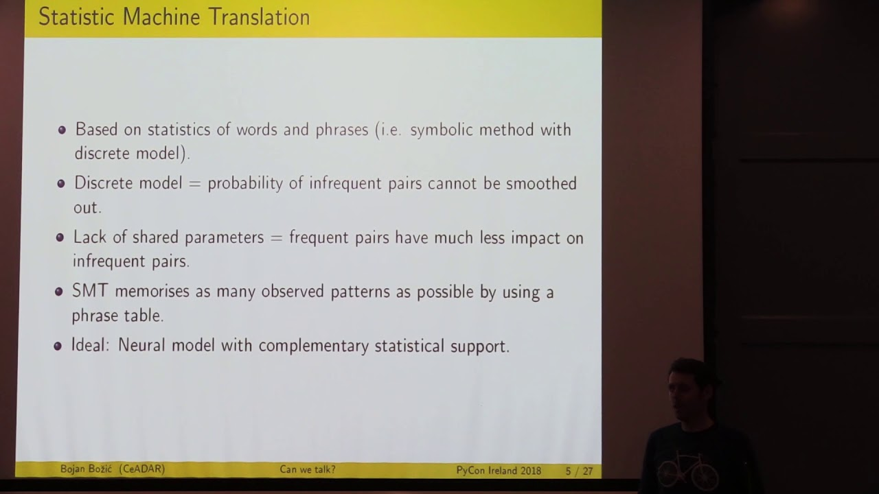 Image from Pycon Ireland 2018: Machine Translation with Keras - Bojan Bozic