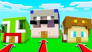 UNSPEAKABLE HOUSE vs SHARK HOUSE in Minecraft!