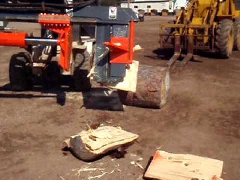 Multitek Super Ax Model 630 Skid Steer Log Splitter Youtube