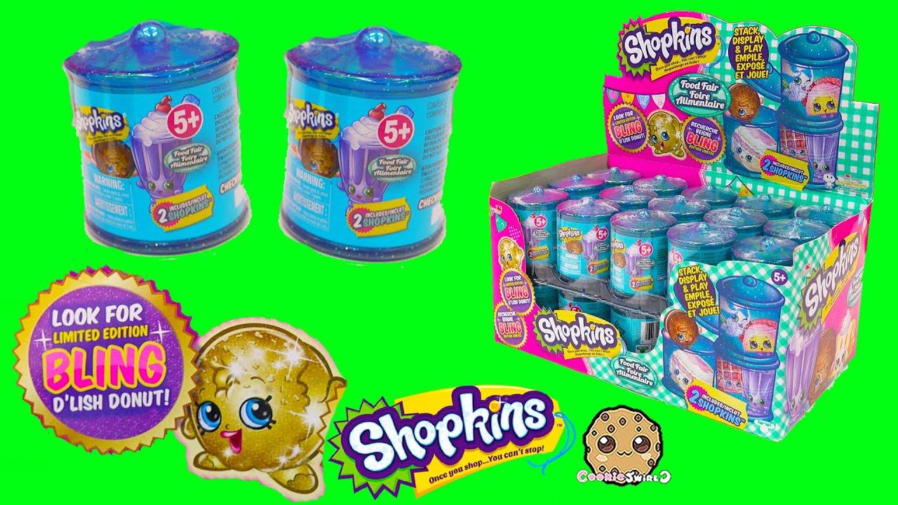 Shopkins Food Fair Candy Jar Blind Bag Box Unboxing Season