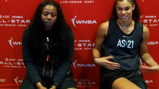 Team WNBA Arike Ogunbowale \u0026 Satou Sabally