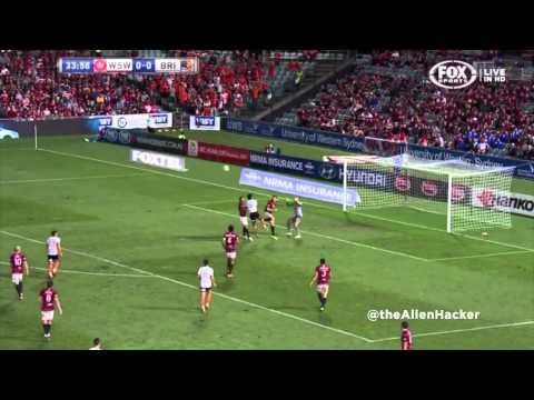 Liam Miller Goal vs Western Sydney Wanderers - Round 26 - 05.04.14