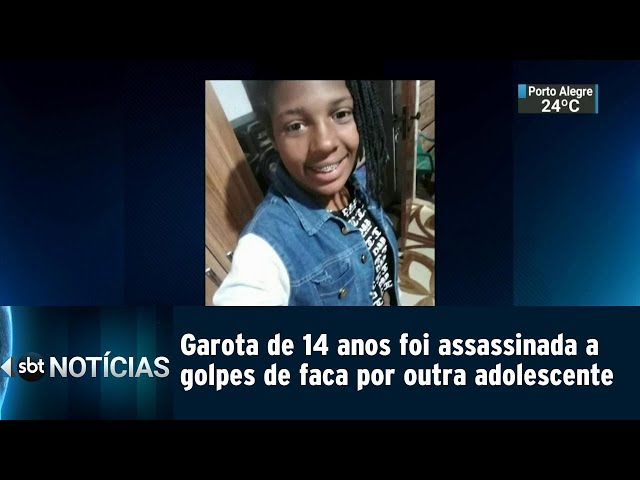 Garota de 14 anos foi assassinada a golpes de faca   SBT Notícias (07/03/2019)