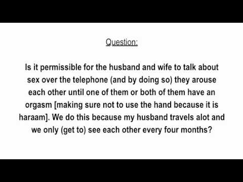 Talking to wife about sex