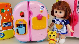 Baby Doll Refrigerator toys and food toys play