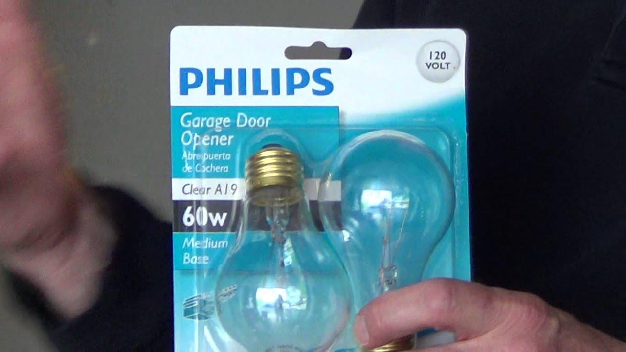 Garage Door Opener Light Bulb Youtube