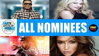 Latin American Music Awards 2018 - ALL NOMINEES | October 25, 2018 Nominations | ChartExpress