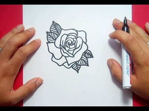Como dibujar una rosa paso a paso 12 how to draw a rose - Como secar una rosa ...