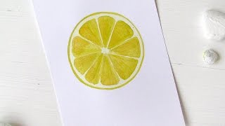 Easily  Paint a Lemon with Watercolors - DIY Crafts - Guidecentral
