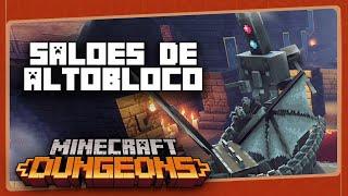 MINECRAFT DUNGEONS #8 - Salões de Altobloco | Gameplay em Português PT-BR com BRKsEDU