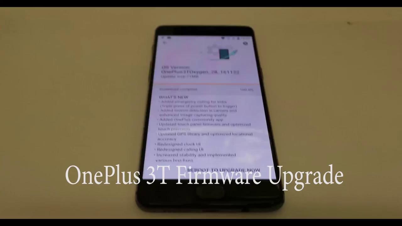Oneplus 3t Firmware