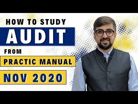 How To Study Audit From ICAI Practice Manual | May 2018 🔥🔥🔥🔥