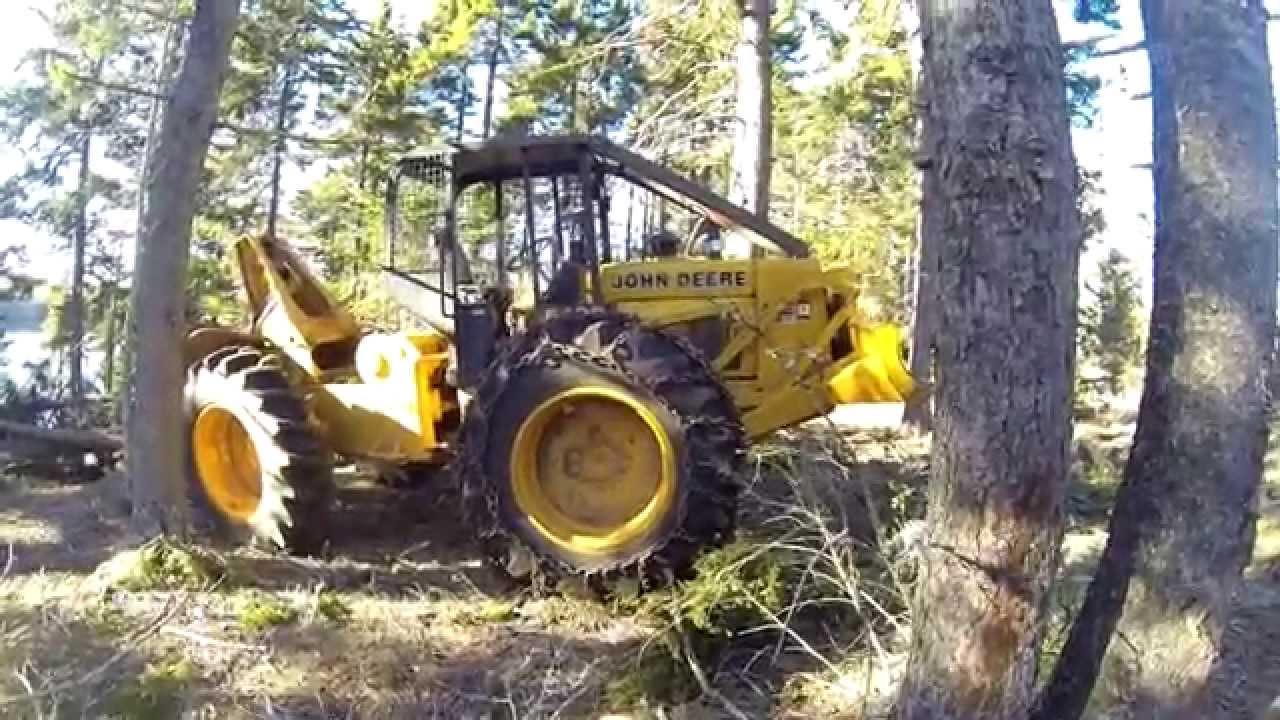 Blowdown Cleanup w/ John Deere 540D Part 2