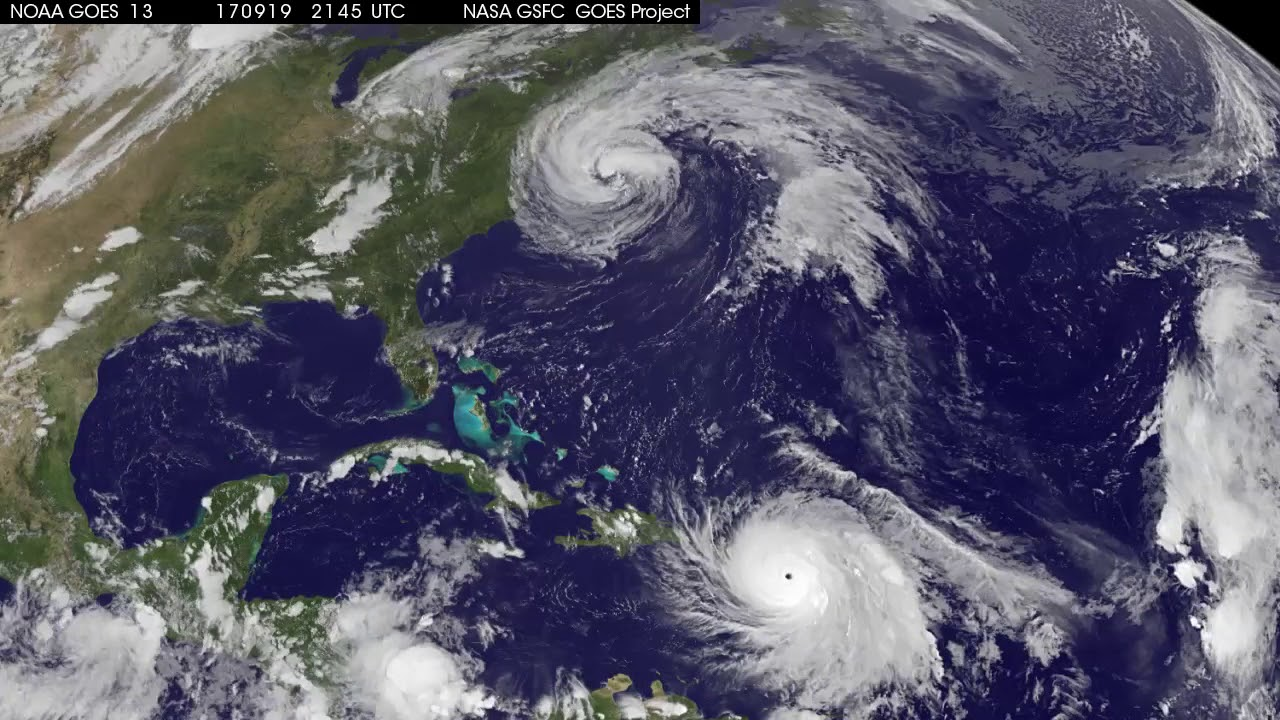 Satellite Animation Shows Hurricane Maria And Tropical