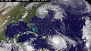 Satellite Animation Shows Hurricane Maria and Tropical Storm Jose