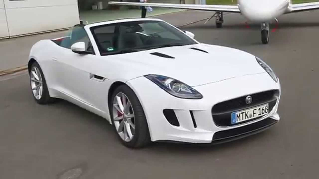 jaguar f type 3 0 liter v6 cabrio in wei youtube. Black Bedroom Furniture Sets. Home Design Ideas