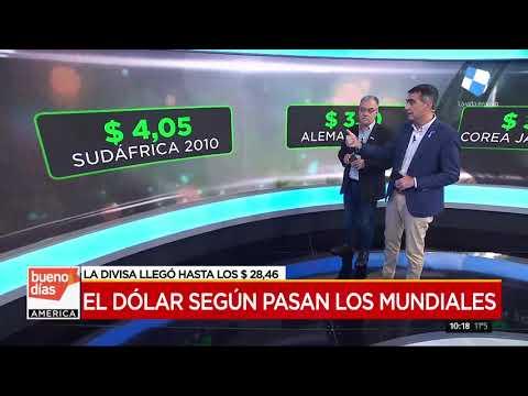 El precio del dólar según pasan los Mundiales