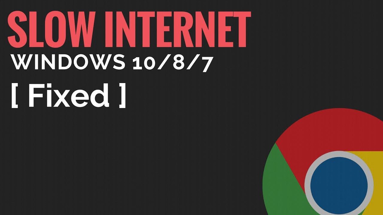 Fix Slow Internet Issue On Windows 10/8/7