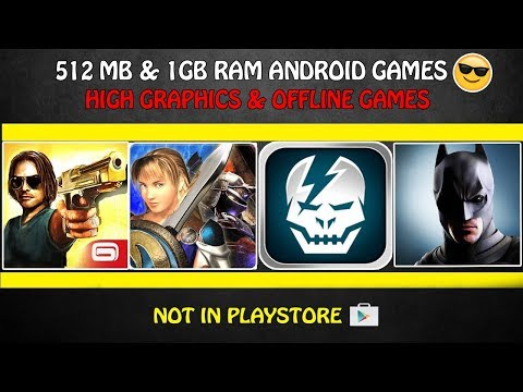 5 Best 512MB & 1GB RAM Android Games With High Graphics | Offline