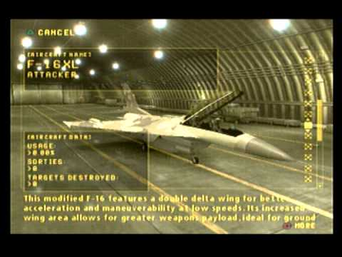 Ace Combat Zero Flight Data Result and Aircraft Usage