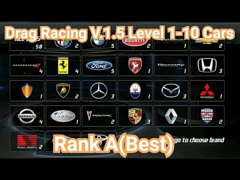 Drag Racing:Level 1-10 Cars Rank A(Best) V.1.5