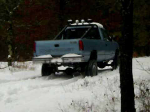 my lifted 1992 Chevy Cheyenne 1500 with a 350 driving in ...