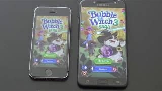 iPhone 5s vs Samsung Galaxy J7+ Plus сравнение, обзор