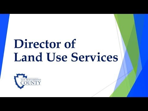 Director of Land Use Services Opening in San Bernardino County