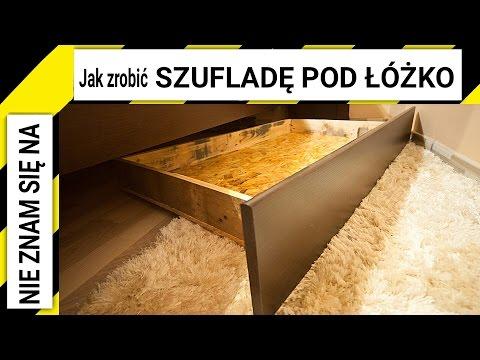 Jak zrobić szufladę pod łóżko z desek po paletach