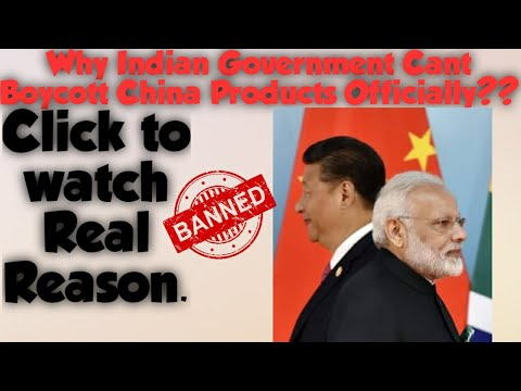 ##Reason Why can't India ban the import of Chinese products????