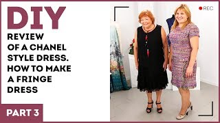 DIY: Review of a Chanel style dress. How to make a fringe dress.