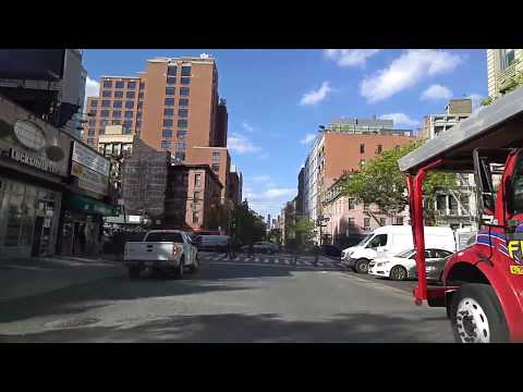 Driving from Tribeca to Soho in Manhattan,New York