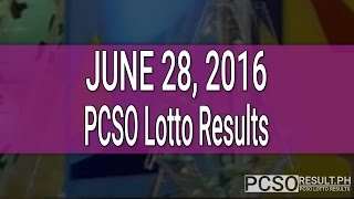 PCSO Lotto Results June 28, 2016 (6/49, 6/42, 6D, Swertres & EZ2)