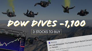 THE FASTEST STOCK MARKET CORRECTION EVER – My Watchlist – 3 Stocks To Buy That ARE UP