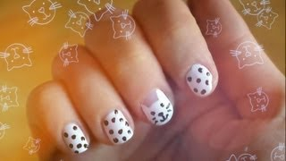 Рисуем кота на ногтях ❤  Kitty Nail Art.(Спасибо за Like и за Подписку на мой канал ♥ ♥ Испанский канал http://www.youtube.com/user/MakeUpKatyS Группа в контакте..., 2012-09-25T18:33:20.000Z)
