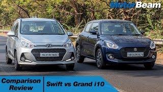 Maruti Swift vs Hyundai Grand i10 - Shootout | MotorBeam