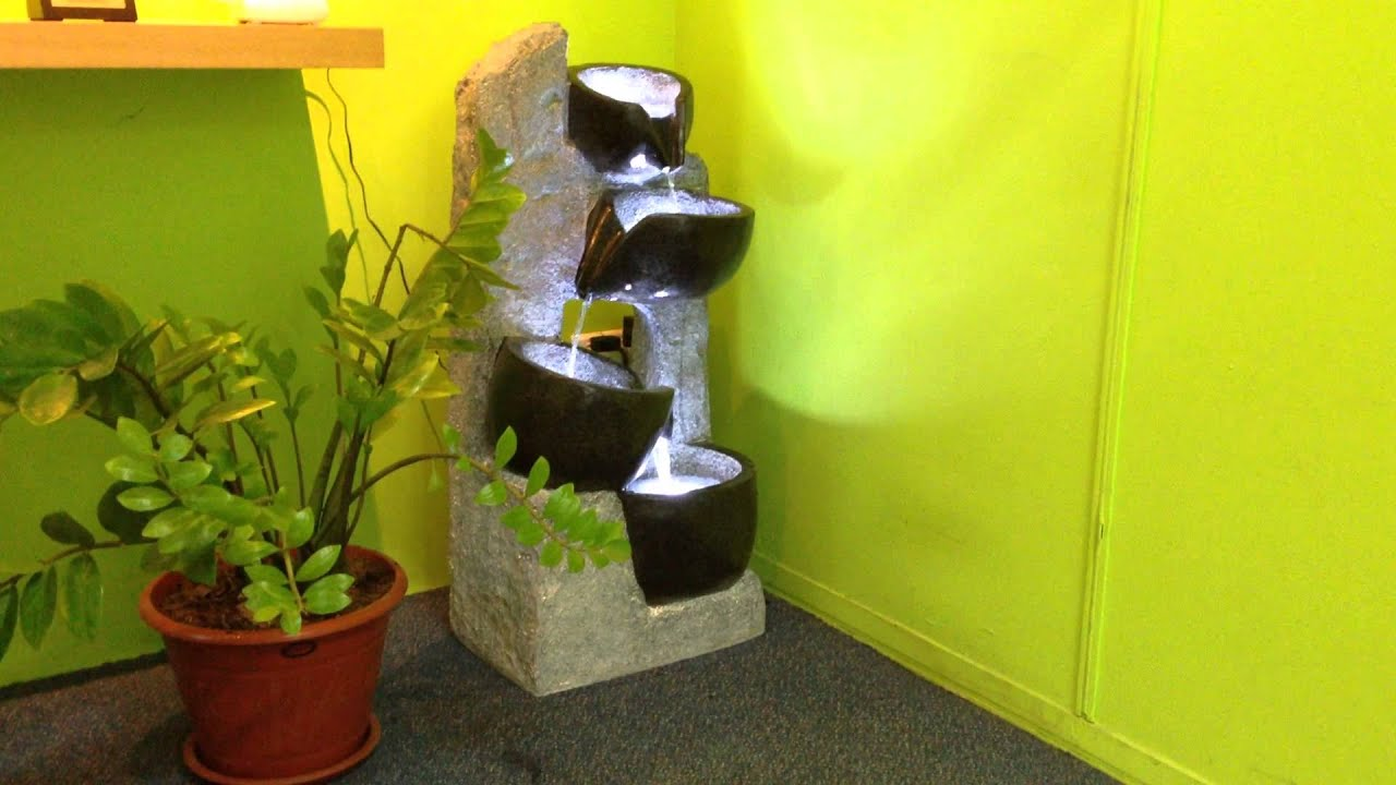 Water Fountain Are Great Gift. Stress Relief And Relaxation, Decor Piece  For Home And Office