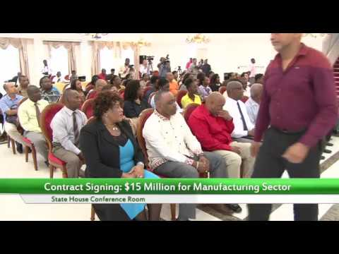 Contract Signing: $15 Million for Manufacturing Sector