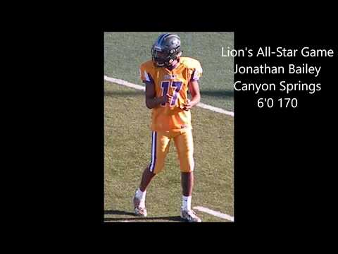 Lion's AllStar S Jonathan Bailey Canyon Springs